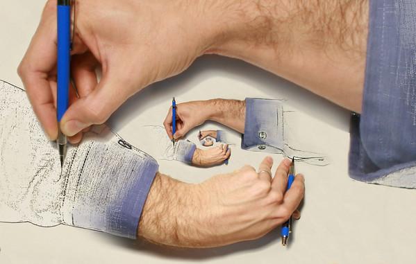 Recursive Drawing Hands