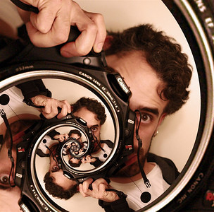 Obligatory Droste Self portrait, with multiplicity...